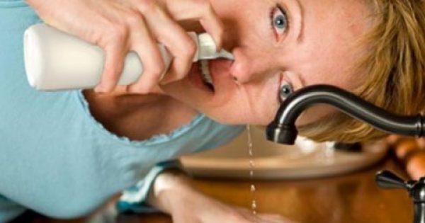 Αναπνεύστε ελεύθερα! Ρυνικές πλύσεις με αλατόνερο (βίντεο)