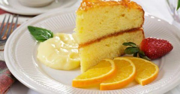 Κέικ πορτοκάλι με γέμιση μαρμελάδας
