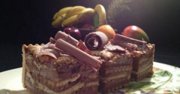 Μπισκοτογλυκό ψυγείου με σοκολατένια κρέμα με 5 υλικά