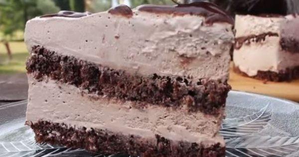 Αφράτη τούρτα σοκολατίνα νηστίσιμη (Video)