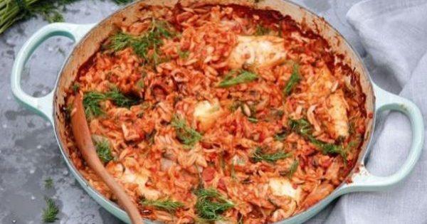 Σουπιές γιουβέτσι με κριθαράκι στο φούρνο