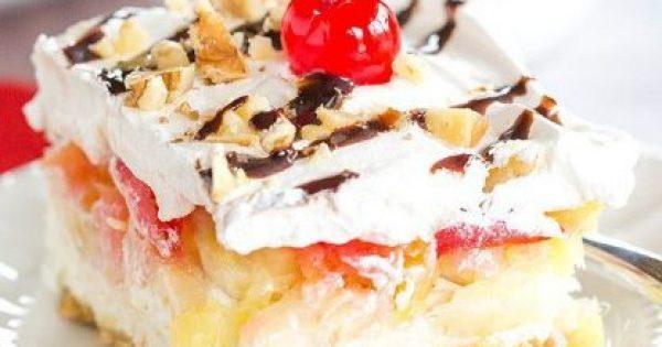 Ανάλαφρο γλυκό ψυγείου με φρέσκα φρούτα