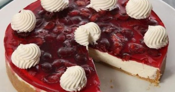 Cheesecake με ζελέ φρούτων